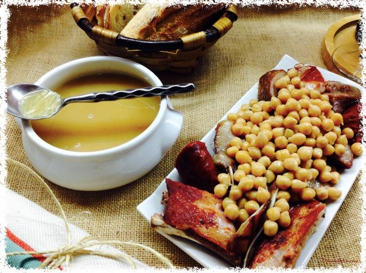 Cocido de garbanzos con sopa de fideos y sacramentos 1