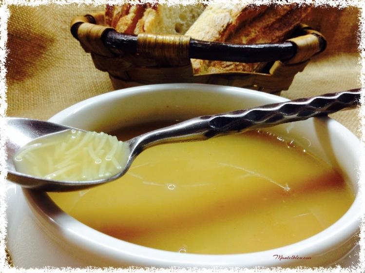 Cocido de garbanzos con sopa de fideos y sacramentos 2