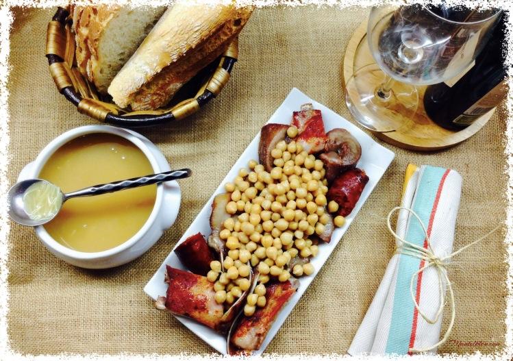 Cocido de garbanzos con sopa de fideos y sacramentos 4