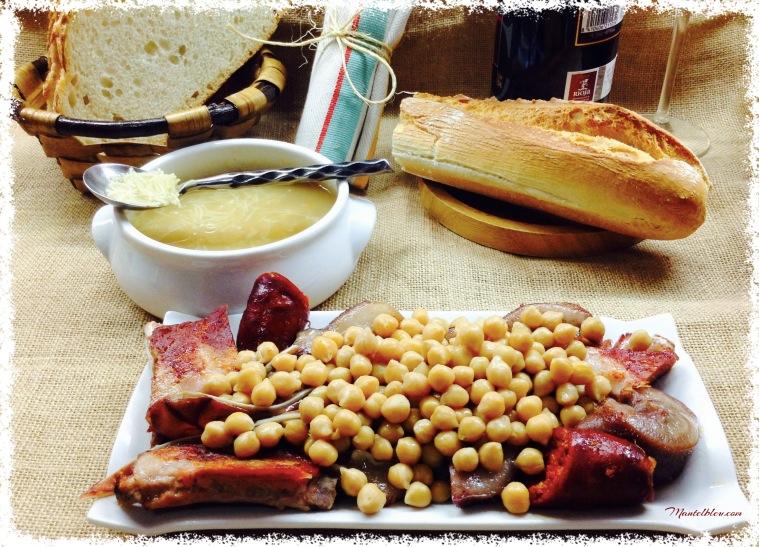 Cocido de garbanzos con sopa de fideos y sacramentos 6