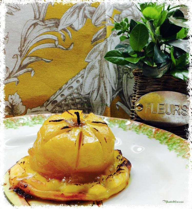 Pastel de manzana con crema pastelera 1