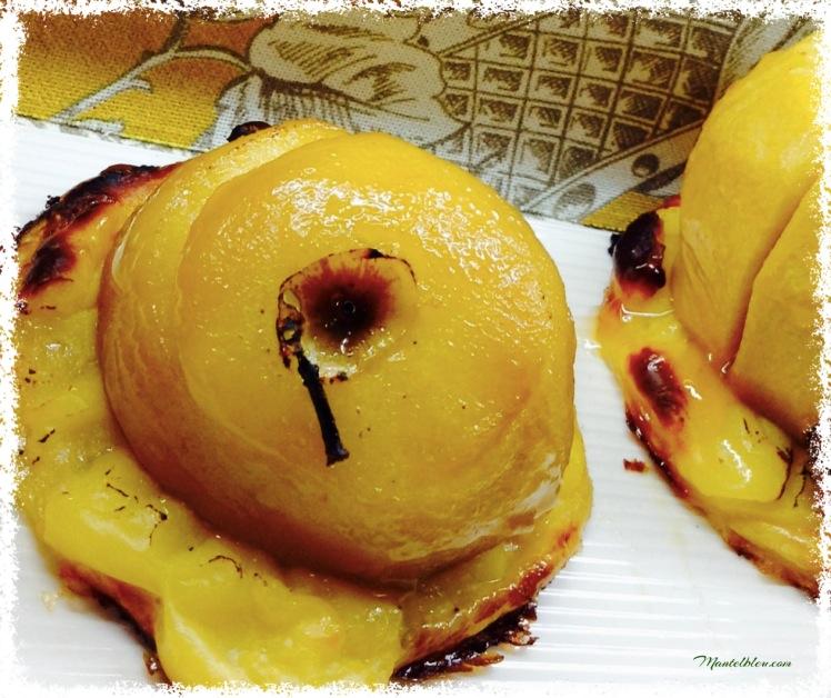 Pastel de manzana con crema pastelera 2