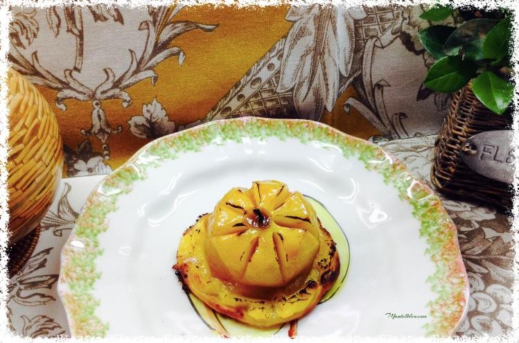 Pastel de manzana con crema pastelera 3
