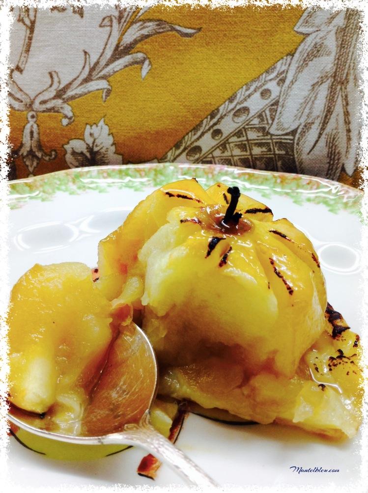 Pastel de manzana con crema pastelera 4
