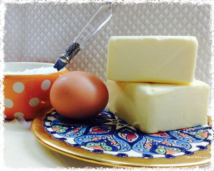 Persianas de hojaldre rellenas de crema de mantequilla Ingredientes