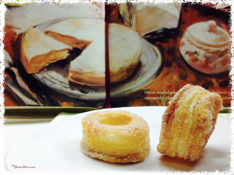 Rosquillas de hojaldre almibaradas 1