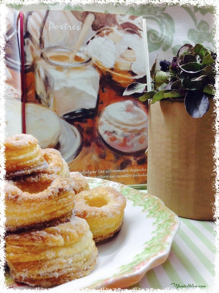 Rosquillas de hojaldre almibaradas 6