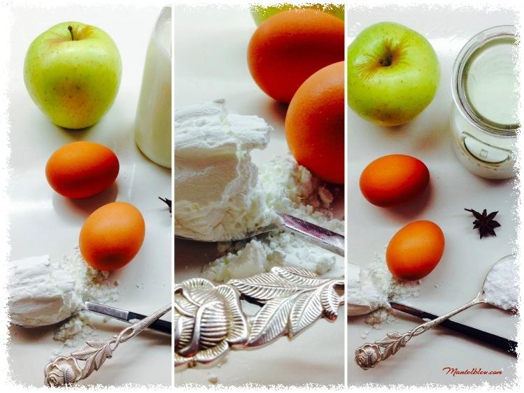 Tarta de manzana con crema pastelera Ingredientes_Fotor