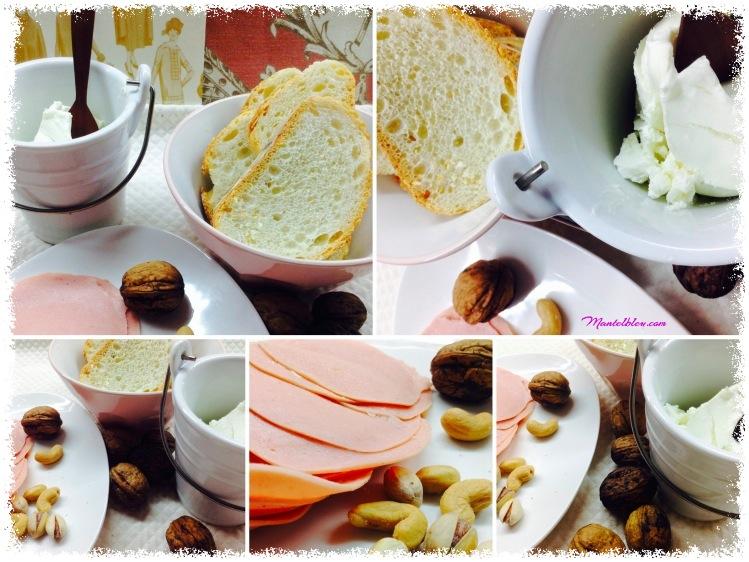 Tosta de crema de mortadela con frutos secos y pimienta rosa Ingredientes_Fotor