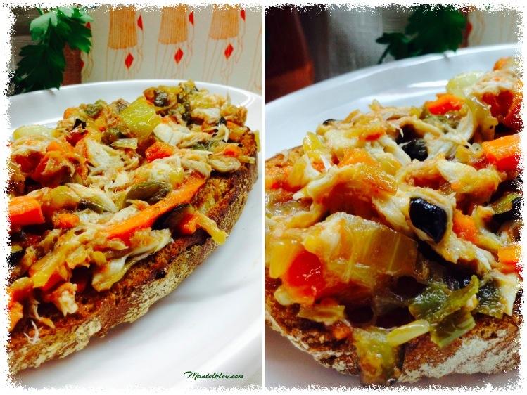 Tosta de verdel con verduras pochadas 3_Fotor