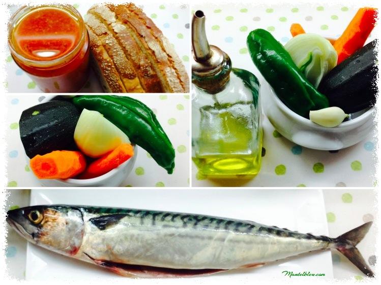 Tosta de verdel con verduras pochadas Ingredientes_Fotor