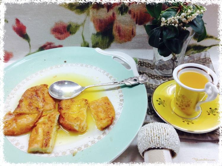 Torrijas en salsa de almíbar de naranja 5