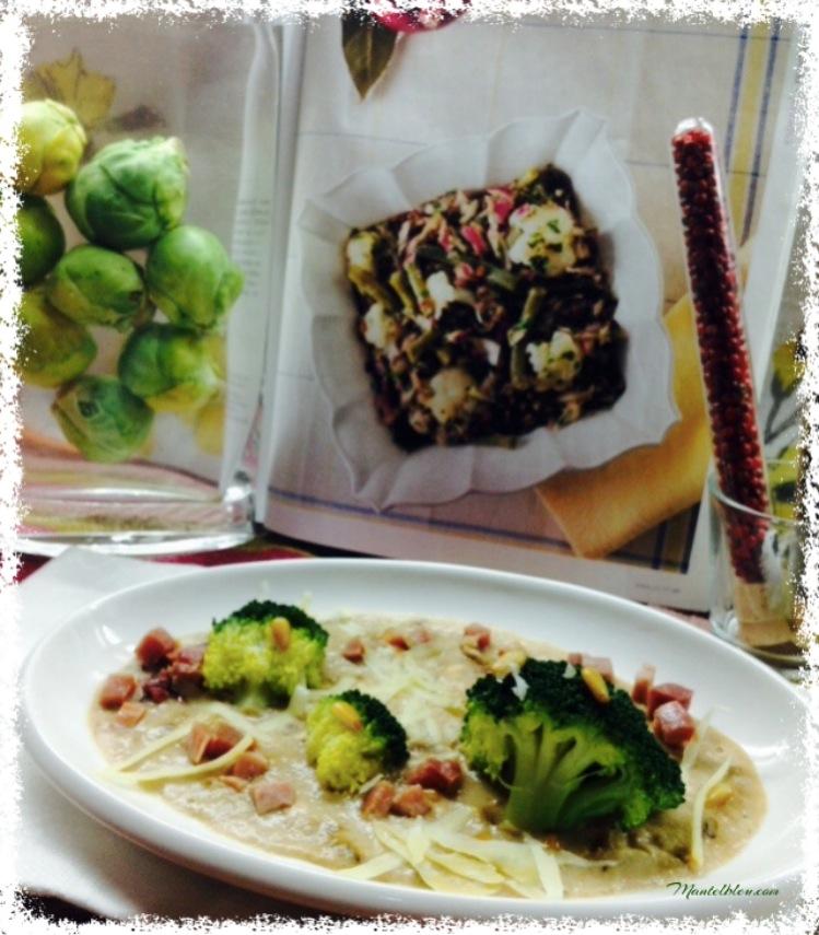 Brócoli con bechamel con queso y piñones 5