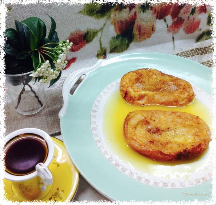 Torrijas en salsa de almíbar de naranja 2
