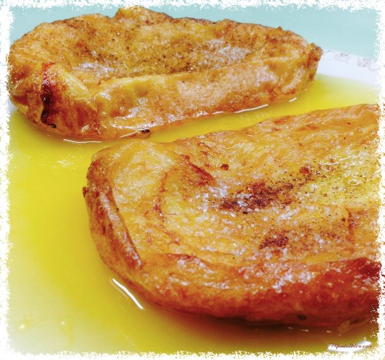 Torrijas en salsa de naranja en almíbar 1