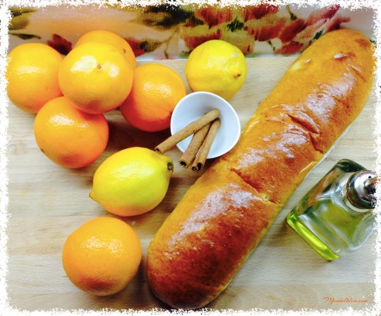 Torrijas en salsa de almíbar de naranja Ingredientes