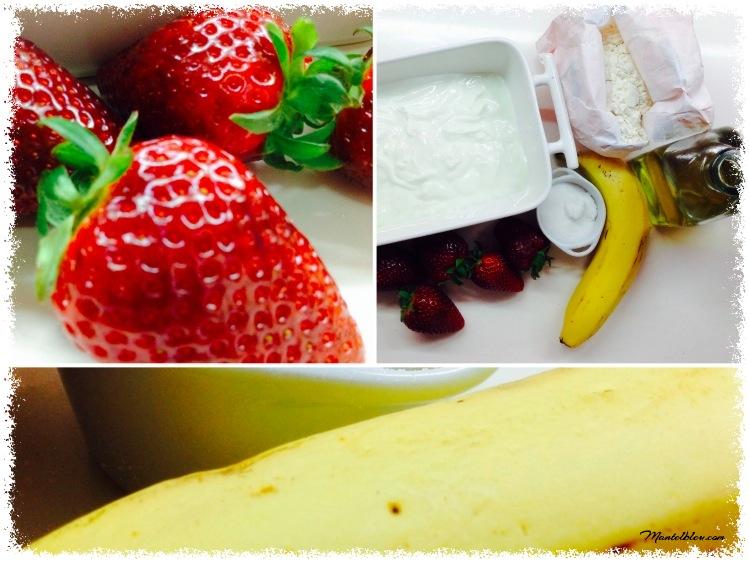 Bizcocho de frsa, plátano y crema de mantequilla Ingredientes_Fotor