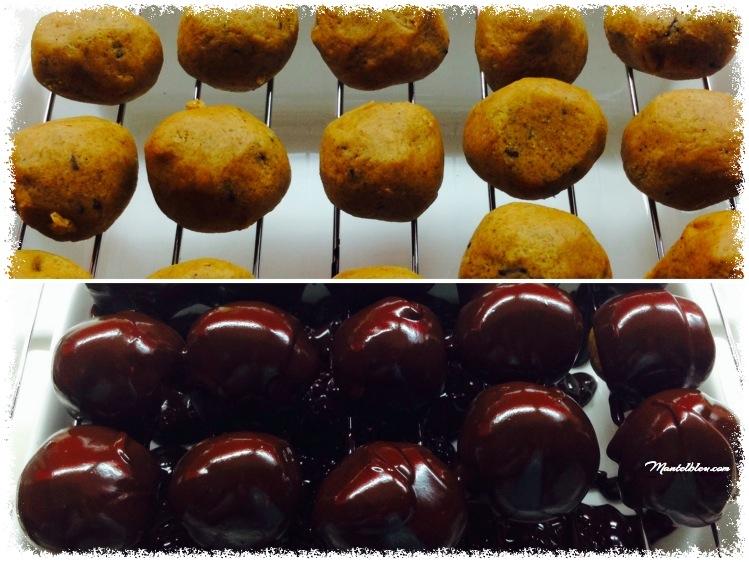 Bolitas de masa de galletas con chocolate  Elaboración_Fotor
