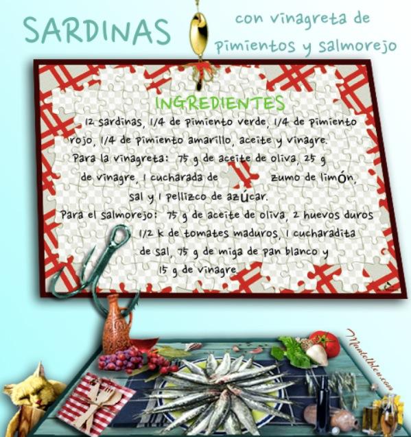 Sardinas con vinagreta de pimientos y salmorejo Etiqueta Ingredientes