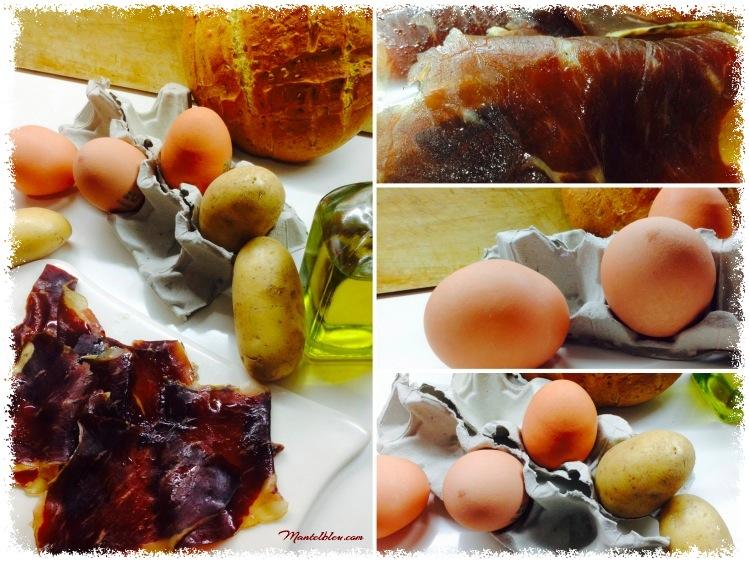 Tosta de huevos rotos con cecina Ingredientes_Fotor