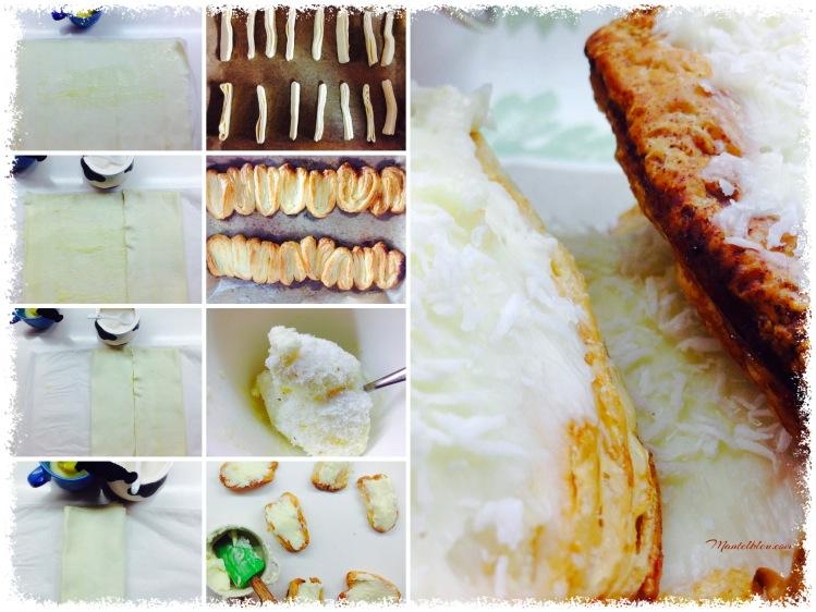 Palmeras con crema de mantequilla y coco Elaboración_Fotor