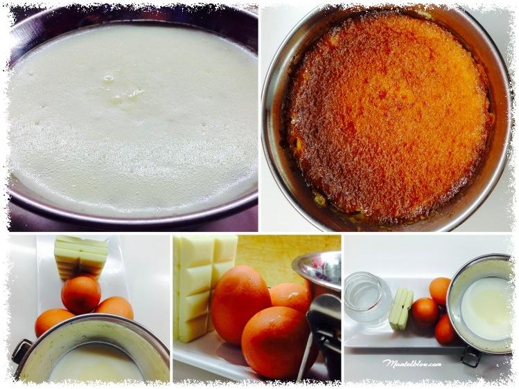 Flan de chocolate blanco con crema de frambuesas elaboración_Fotor