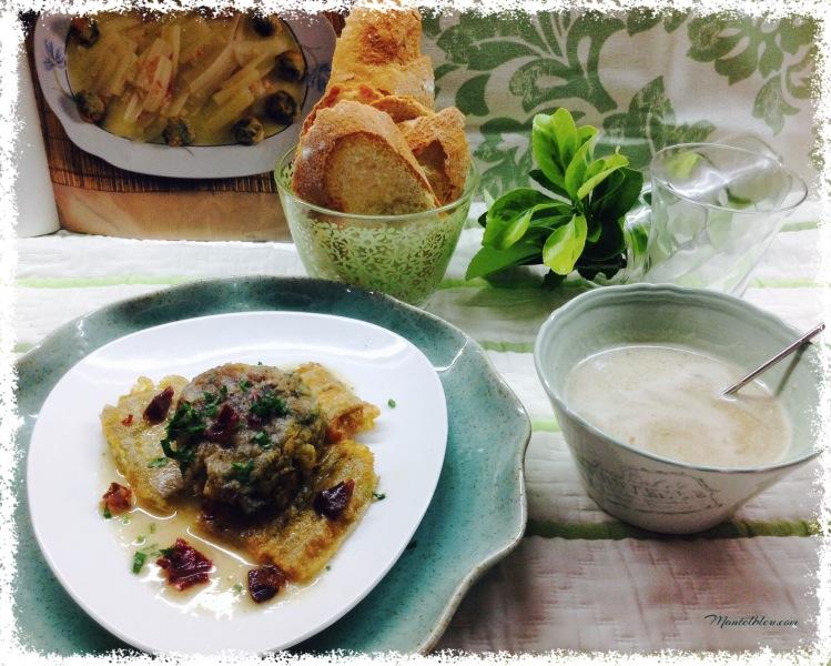 Albóndigas de acelga y sus pencas en salsa 2