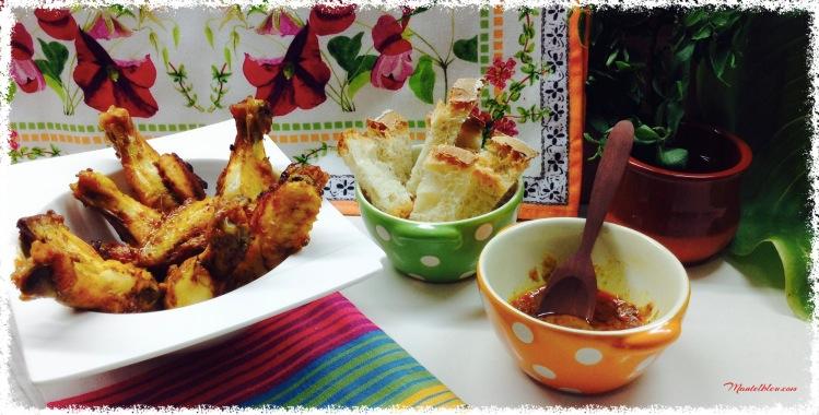 Alitas de pollo adobadas 2