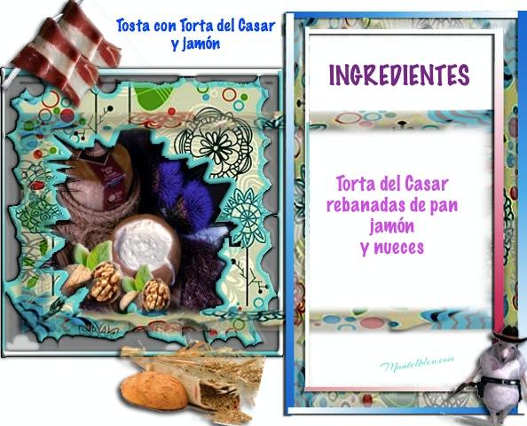 Tosta de Torta del Casar y jamón  Etiqueta Ingredientes