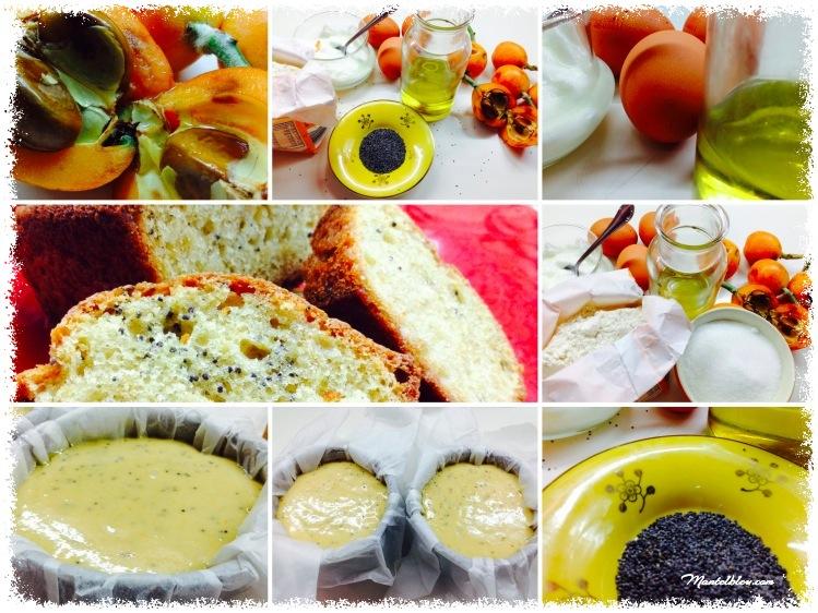 Bizcocho de nísperos y semillas de amapolas elaboración_Fotor