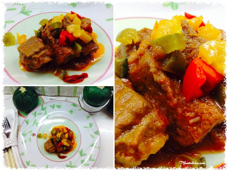 Carne guisada acompañada de pimientos de colores 3_Fotor
