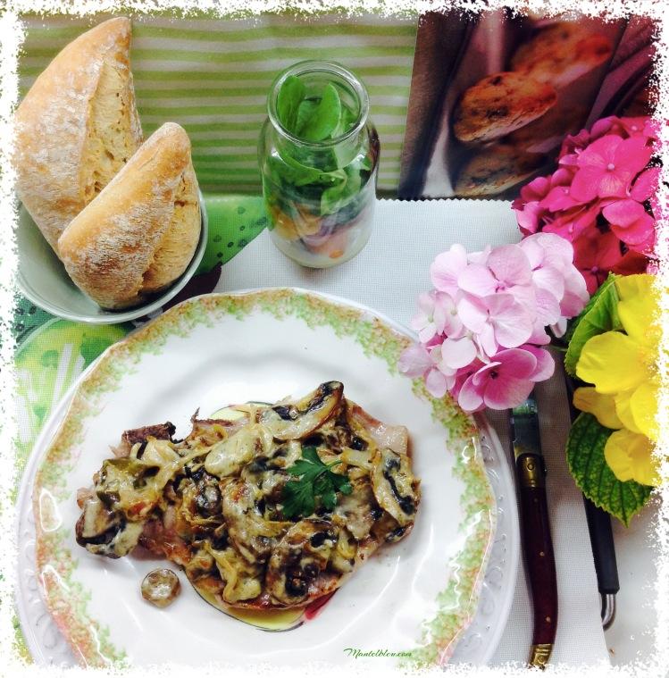 Chuleta de lomo con salsa de champiñones y pimienta 1