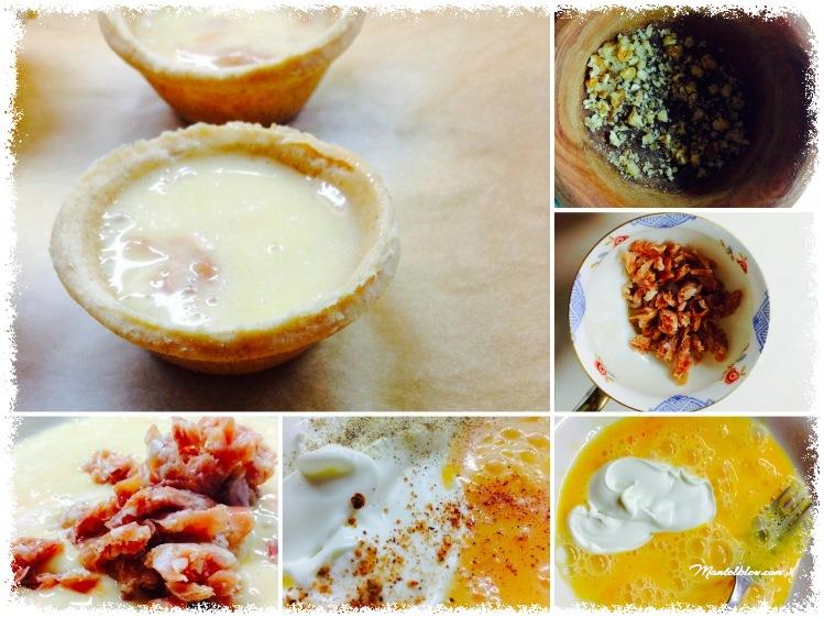 Tartaletas de quiche lorraine con jamón y nueces elaboración_Fotor