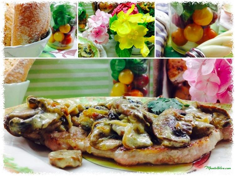 Chuleta de lomo en salsa de champiñones y pimienta 3_Fotor