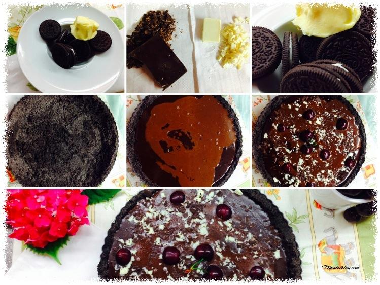 Tarta de galletas de oreo y chocolate elaboración_Fotor