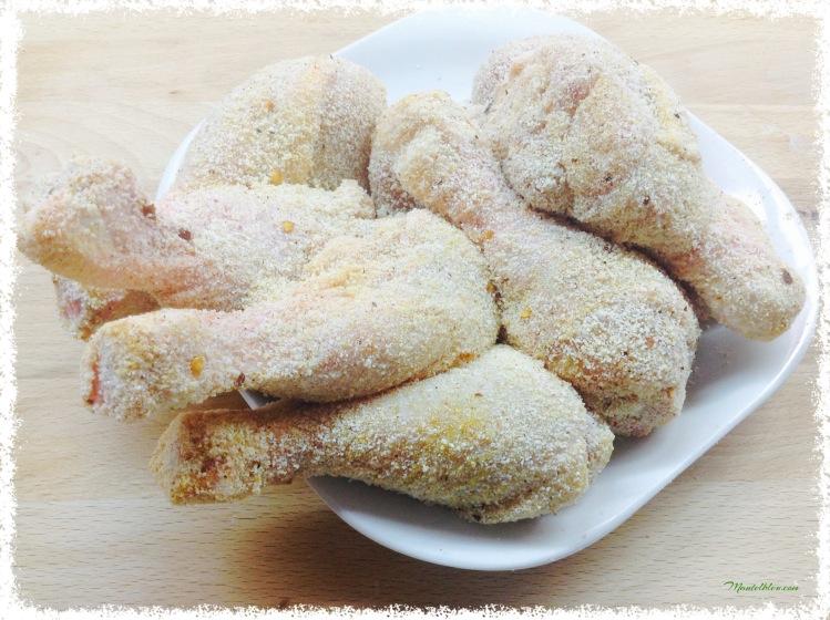 Jamoncitos de pollo frito picante Elaboración