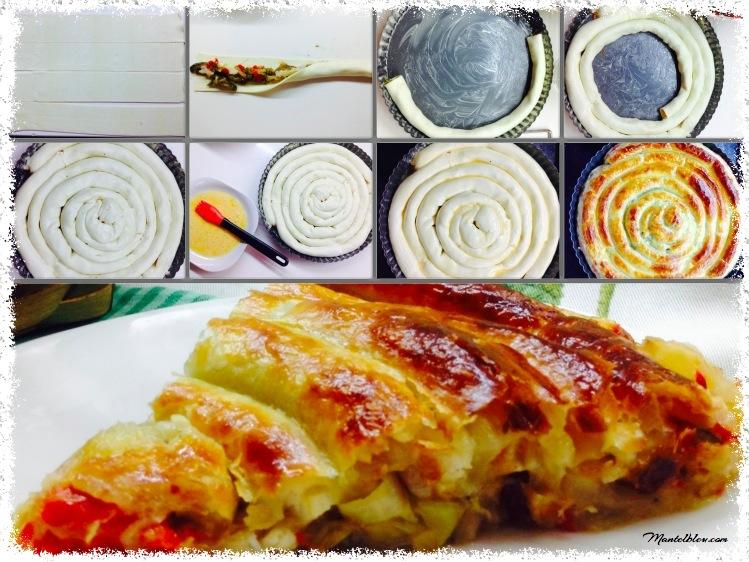 Caracola de verdura con bacalao Ingredientes_1 Fotor
