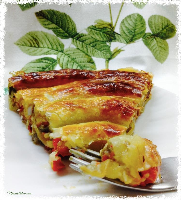Caracola de verduras y bacalao. 4
