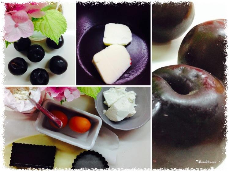 Tartaletas de queso fresco y ciruela Ingredientes_Fotor