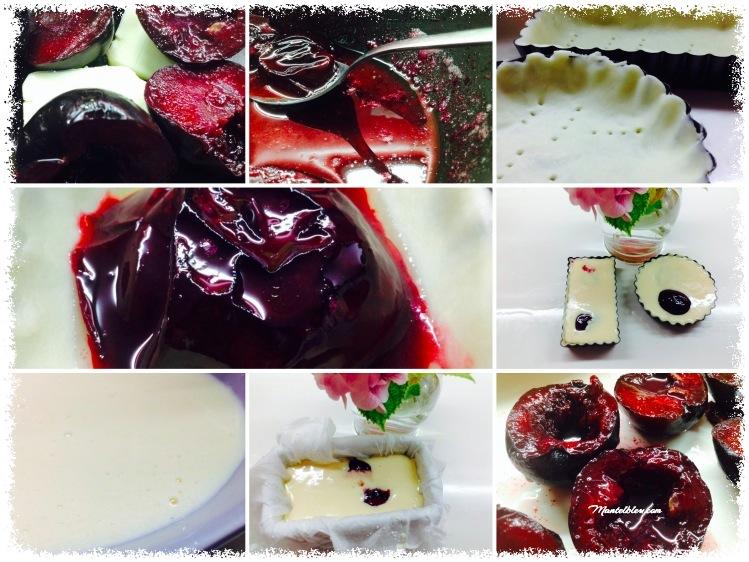 Tartaletas de queso fresco y ciruelas Elaboración _Fotor