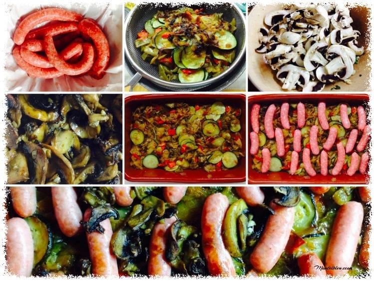 Ragout con salchichas de pollo Ingredientes Elaboración_Fotor