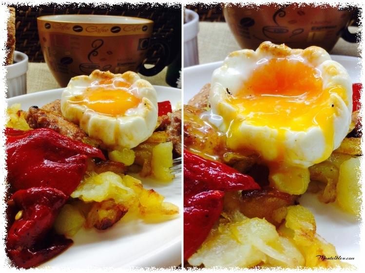 Fritada de patatas con carne adobada y pimientos rojos 3_Fotor