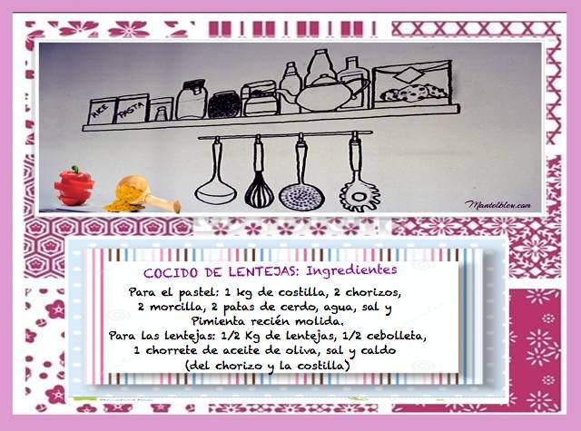 Cocido de lentejas etiqueta