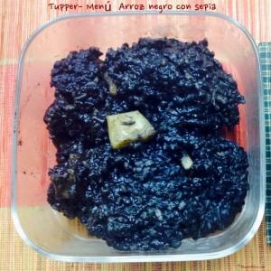 Tupper - Menú Arroz negro con sepia