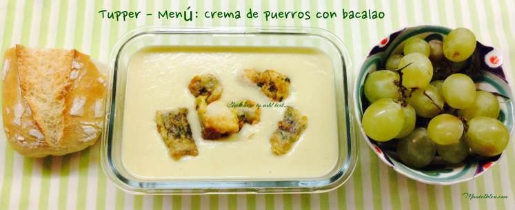 Tupper - Menú Crema de puerros con bacalao