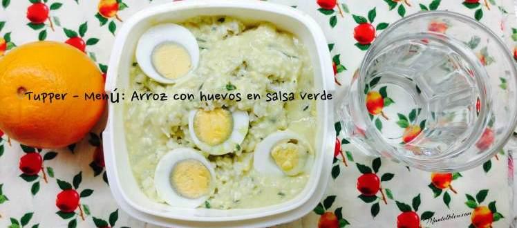 Tupper Menú Arroz con huevos en salsa verde 1Fotor