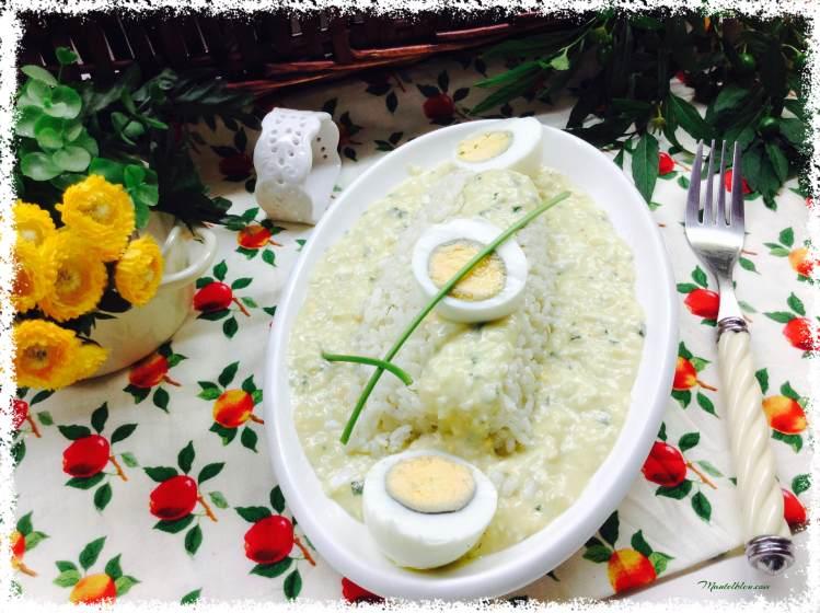 Arroz con huevos en salsa verde 2