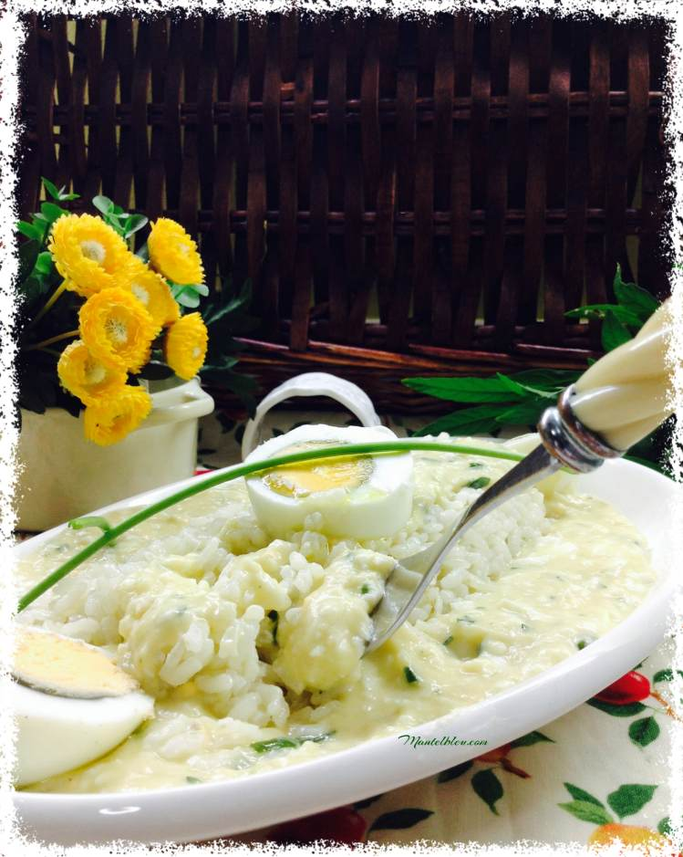 Arroz con huevos en salsa verde 5