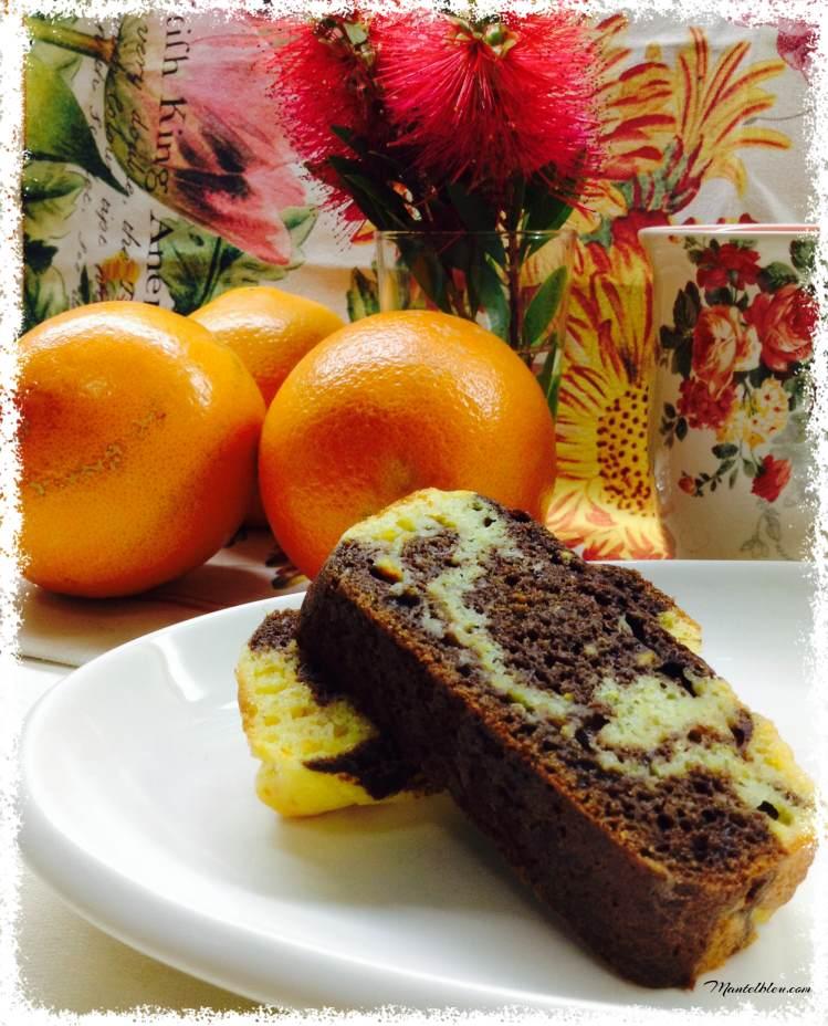 Bizcocho de naranja y chocolate 2
