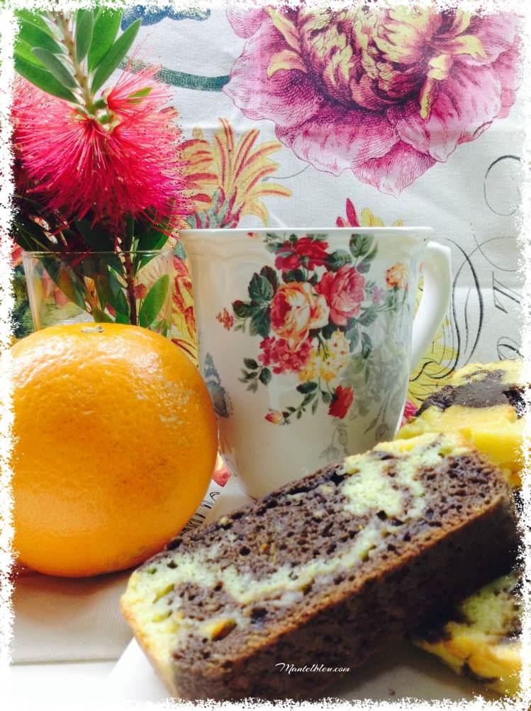 Bizcocho de naranja y chocolate 4